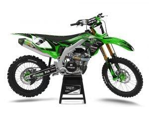 Kawasaki Custom Motocross Green Graphics