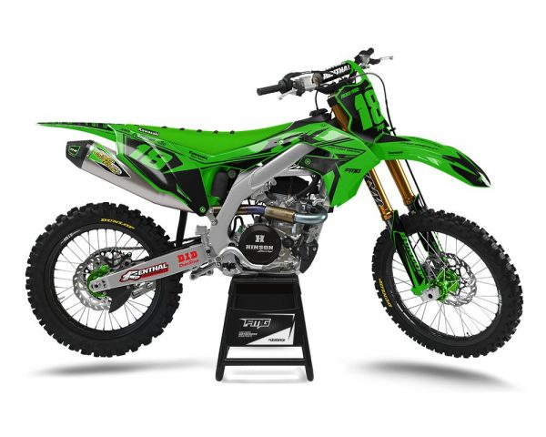 Custom Kawasaki Dirt Bike Graphics UK