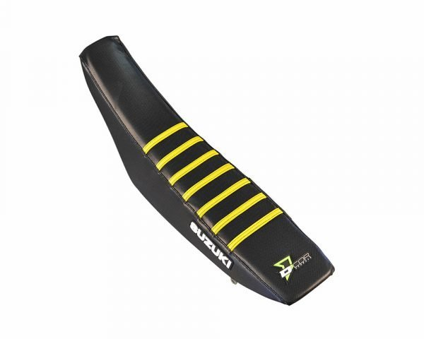 Black Yellow Ribbed Seat Cover