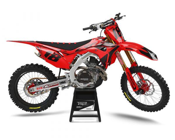 Red Honda Motocross Graphics UK