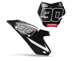 Black GAS GAS MX Number Plates