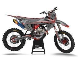 Grey GAS GAS Motocross Decal Kits