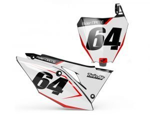White CRF MX Number Board Decals