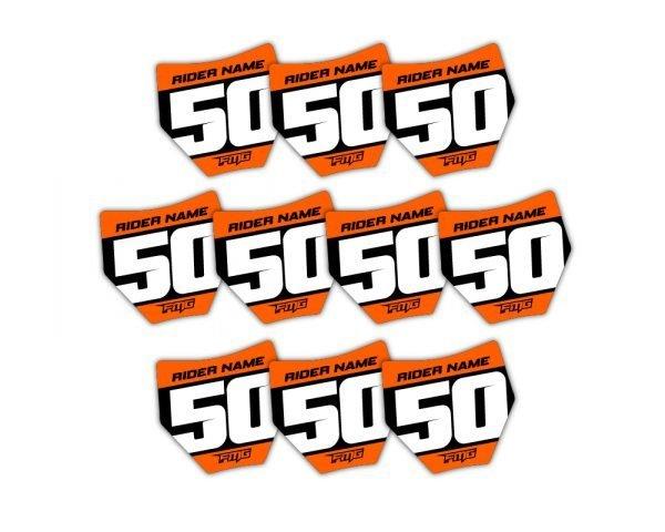 KTM Mini Plate Stickers