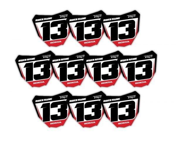 Custom Honda Hub Stickers