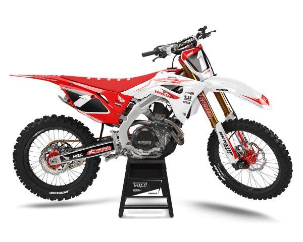 Red White Honda Motocross Decals