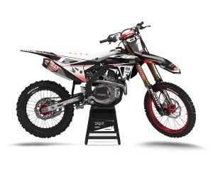 Black Honda Motocross Decals UK