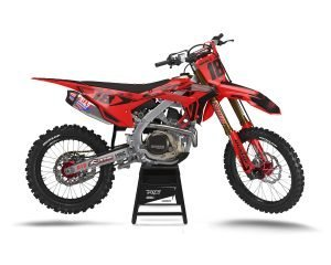 Red Black Honda 450 Graphics