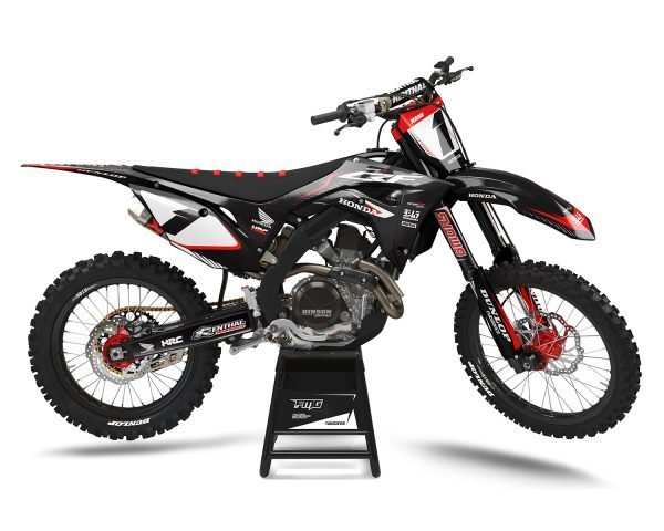 Black Honda CRF Motocross Graphics