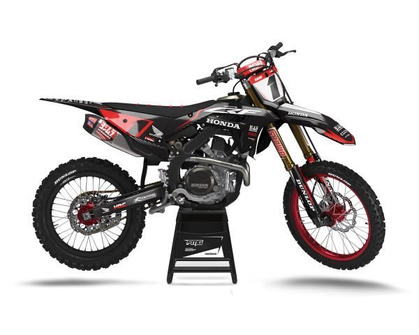 Black Red CRF450 2021 Graphics