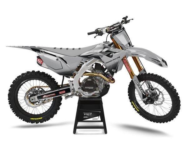 Honda Grey Motocross Graphics
