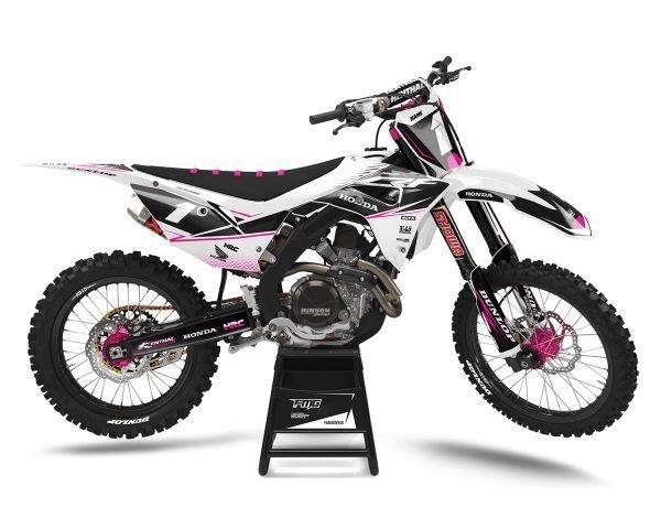 Pink Honda Motocross Decals