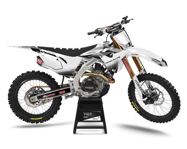 Custom White Honda Motocross Decal Kits