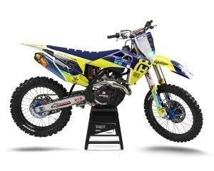 Neon Husqvarna Motocross Decals