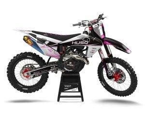 Pink Husqvarna Motocross Decals