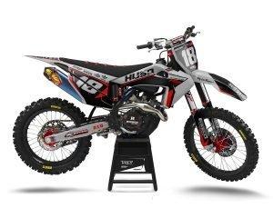 Grey Husqvarna Motocross Graphics Custom