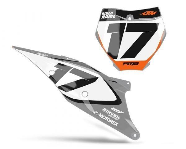 KTM Grey MX Graphics Number Board