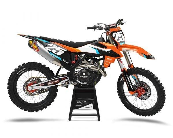 KTM Orange Motocross Graphics