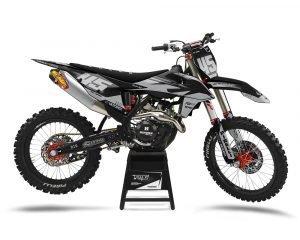 Grey Custom Motocross Graphics