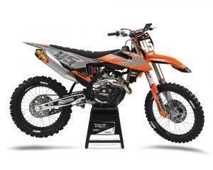 KTM Grey Motocross Graphics