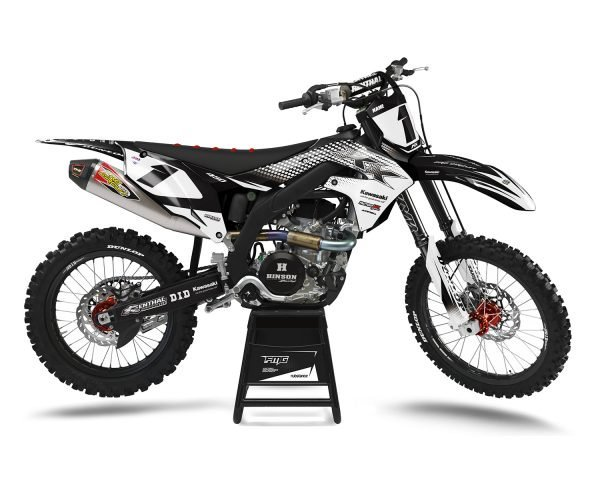 Kawasaki White Motocross Stickers