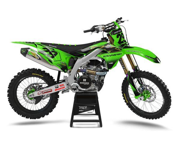 KXF Kawasaki Custom Green Graphic Stickers