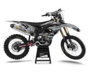Grey Black Kawasaki Motocross Graphics