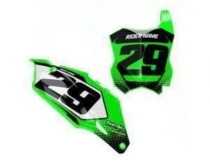 Custom Motocross Number Plate Stickers