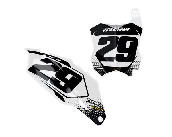 Kawasaki KXF Motocross Number Plate Decals