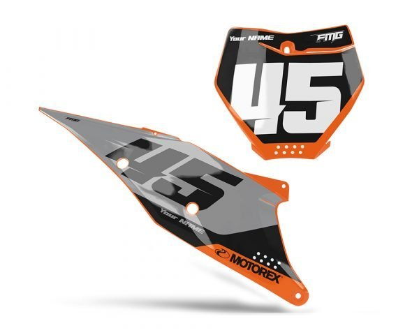 Volta KTM Number Board Decals