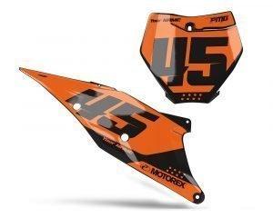 Orange Motocross Number Board Decals