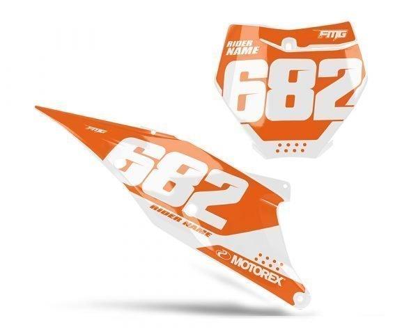 KTM Orange White Number Boards