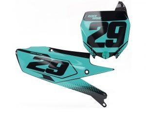 Yamaha Teal Motocross Number Boards