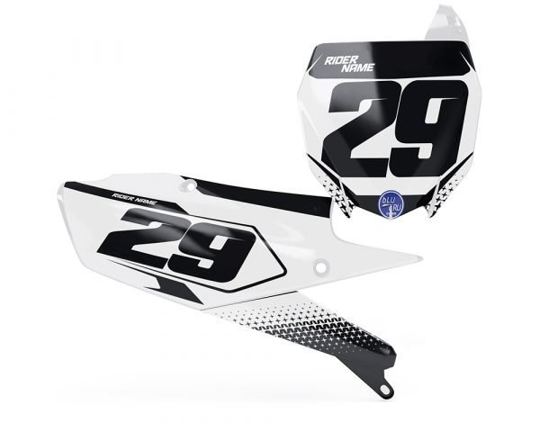 Custom YZF Number Board Decals