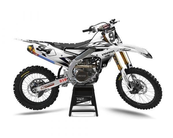 White Yamaha Motocross Graphics