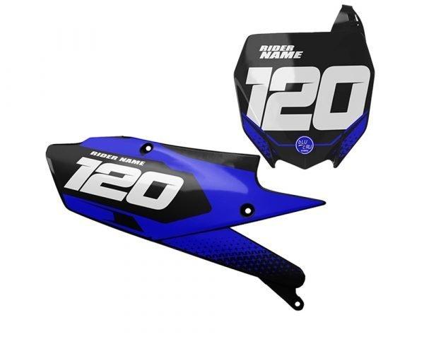 Yamaha Blue Motocross backgrounds