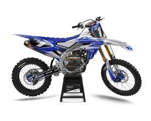 Grey Blue Yamaha Motocross Graphics UK