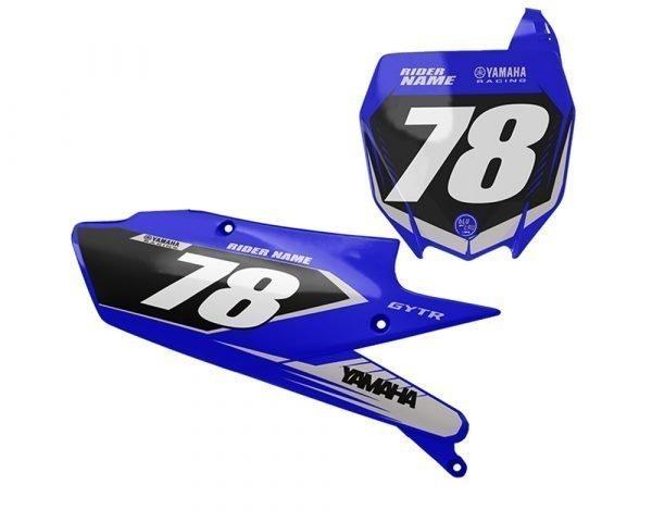 Yamaha Grey Motocross Number Board Graphics