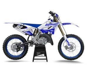 White Yamaha YZ250 Graphics