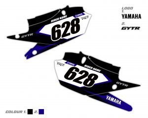 Yamaha YZF Side Panel Decals