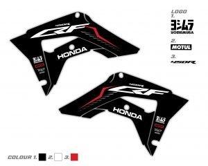 Custom CRF Honda Rad Scoop Graphics
