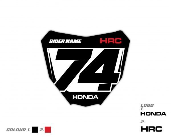 Custom Honda Front Plate Decal