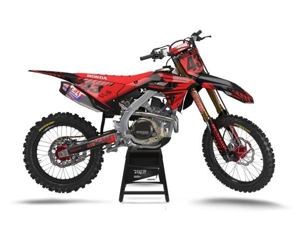 Black Red Honda Graphics Kit
