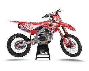 OEM Red CRF450 2021 Graphics Kit