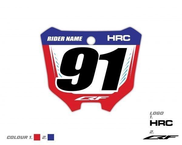 Custom Front Number Plate Honda