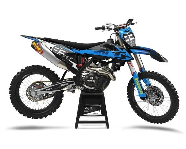Blue KTM Custom Motocross Decals