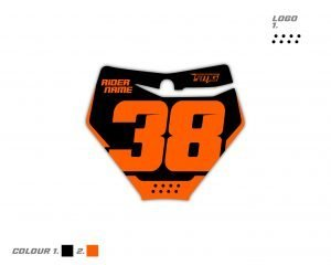 KTM Front Number Board Decals