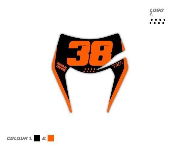 KTM Enduro Headlight Mask Graphic