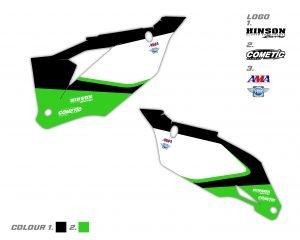 Custom Kawasaki MX Side Panels