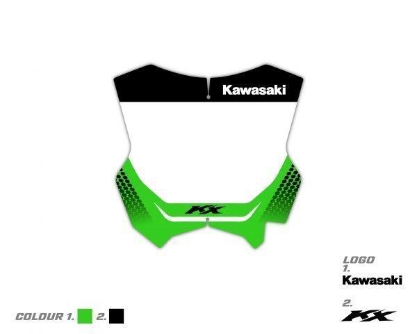 Custom Kawasaki Front Board Graphic